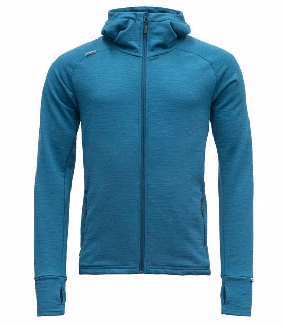 Devold Nibba Hooded Jacket Men grey melange | Gode tilbud