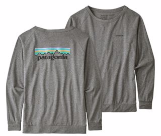 Patagonia  W Long-Sleeved Pastel P-6 Logo Responsibili-Tee