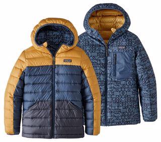 Patagonia  Boys Reversible Down Sweater Hoody