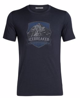 Icebreaker  Mens Tech Lite SS Crewe Everest Crest