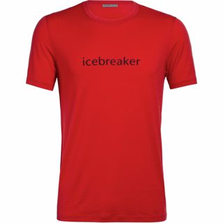 Icebreaker  Mens Icebreaker Logo SS Crewe Icebreaker Wordmark