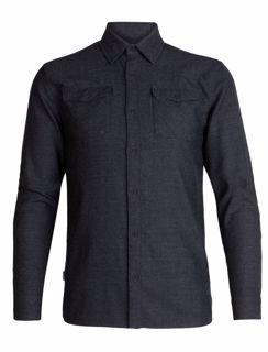 Icebreaker Mens Lodge LS Flannel Shirt