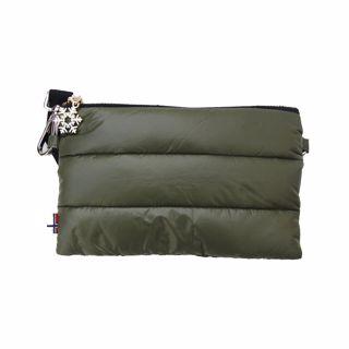 Thermopoc  clutch veske i dun Olivengrønn 215x135mm